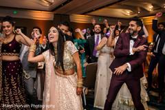 Upbeat Indian bride and groom's dance.