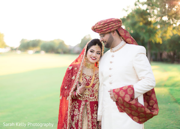 Indian lovebirds wedding portrait