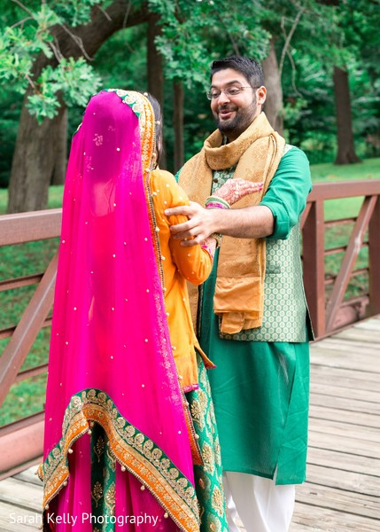 Indian groom suprised with maharani's beauty
