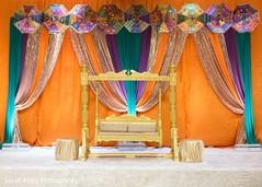 Beautiful Indian wedding decor stage