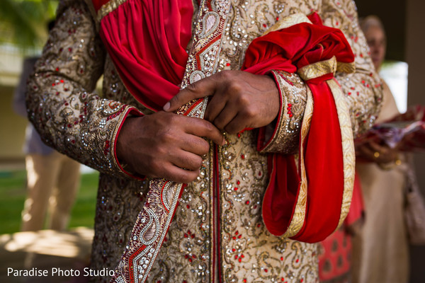 Charming indian groom's ceremony outfit.