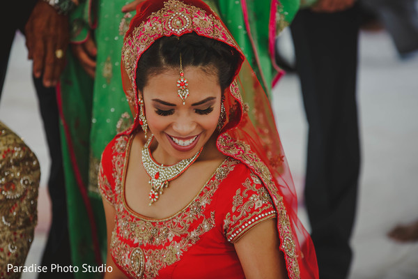Lovely Indian bride at her ceremony capture.