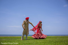 Graceful Indian bride and groom photo session.