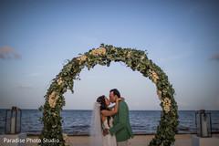 Glamorous beach side wedding photo shoot