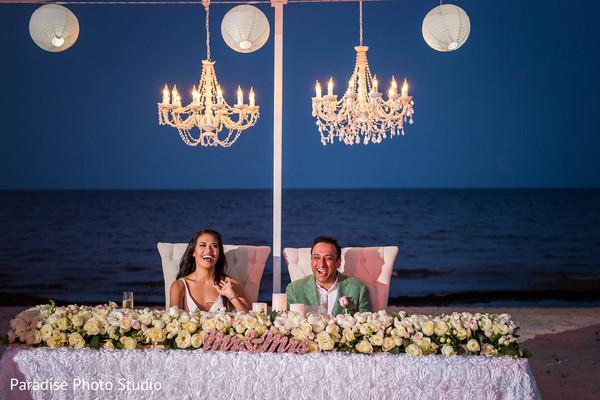 indian bride and groom,indian wedding reception,indian wedding fashion