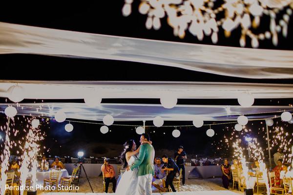 indian bride and groom,indian wedding reception,indian wedding dance