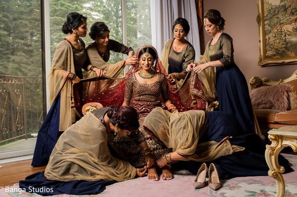 indian bride,maharani,bridesmaids,venue