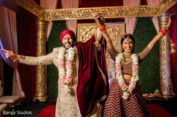 indian wedding,ceremony,newlyweds,venue