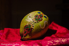 Indian wedding ceremonial coconut.
