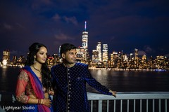 Capture of the elegant Indian couple outdoors