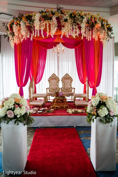 Shot of the beautiful mandap decor