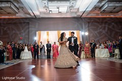 Indian newlyweds enjoying their first dance together