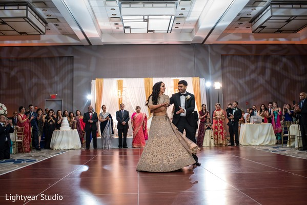indian newlyweds,dance,venue,decor