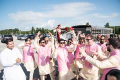 Joyful baraat procession