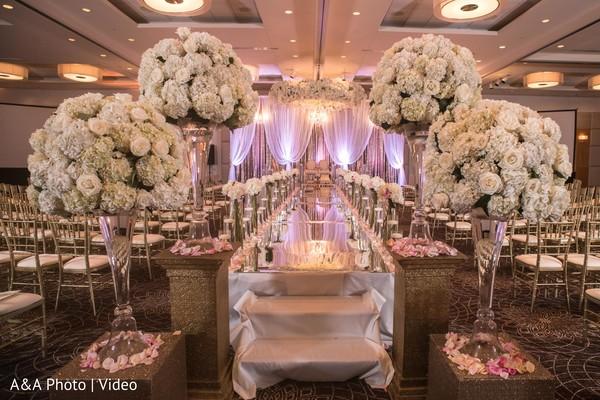 Dreamy indian wedding aisle runner