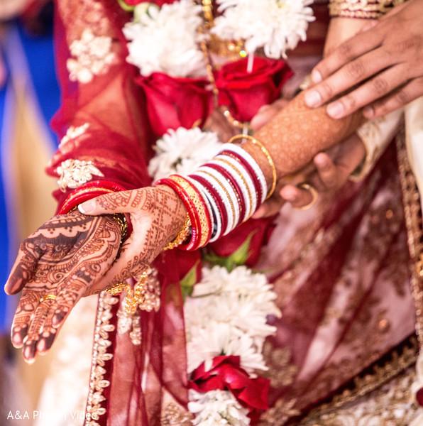 Indian bridal mehndi art close up
