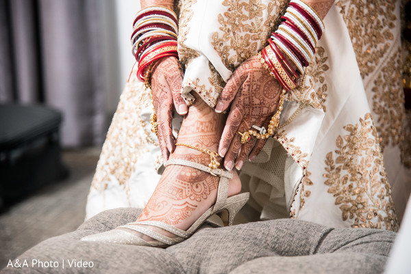 Lovely indian bridal shoes