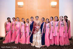 See this maharani with her beautiful bridesmaids