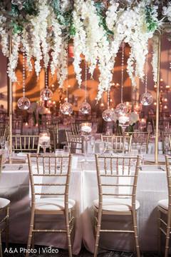 Charming indian wedding table arrangements