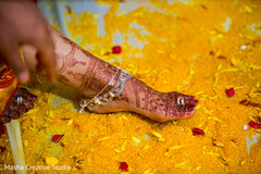 Indian bride feet close up