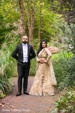 Outdoor themed indian bride and groom photo session