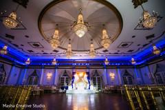 Spectacular indian wedding venue chandeliers