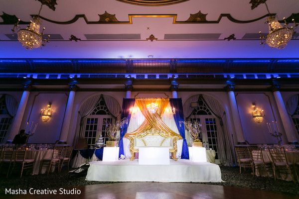indian wedding stage,floral and decor,indian wedding lighting