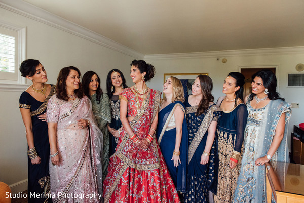 indian bride,indian bridal ceremony fashion,indian bridesmaids