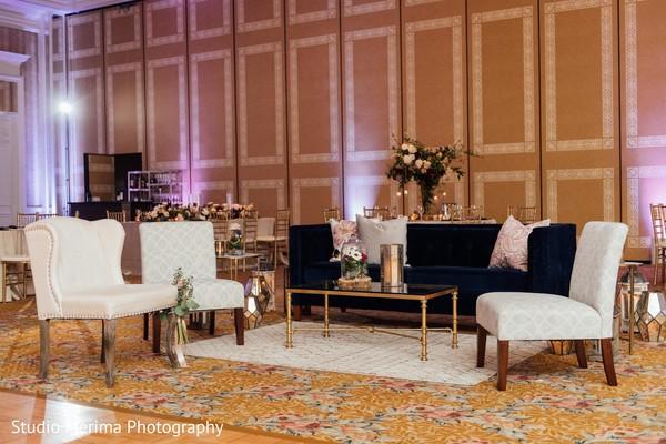 indian wedding reception,seats setup,flowers decor
