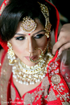 Beautiful Indian bride ready dolled up.