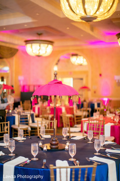 Marvelous sangeet table decoration capture.