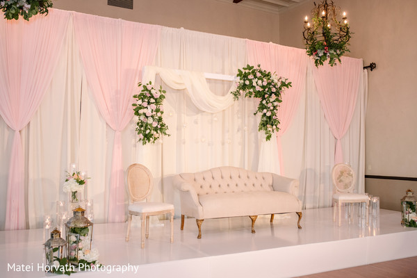 indian wedding,stage,decor,floral