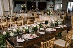 Indian wedding reception table design