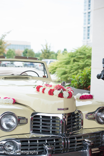 Incredible shot of the couple's ride