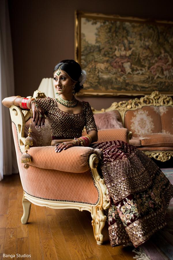 indian bride,maharani,getting ready,hair and makeup