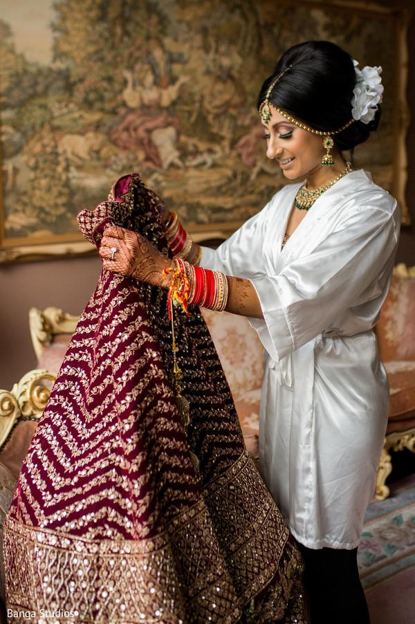 indian wedding,maharani,lengha,getting ready