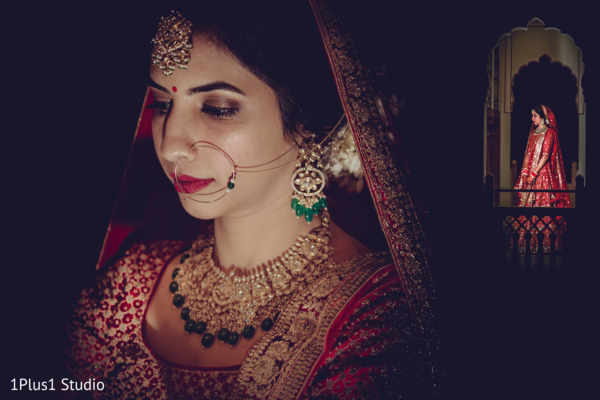 Incredible capture of the beautiful maharani at the venue
