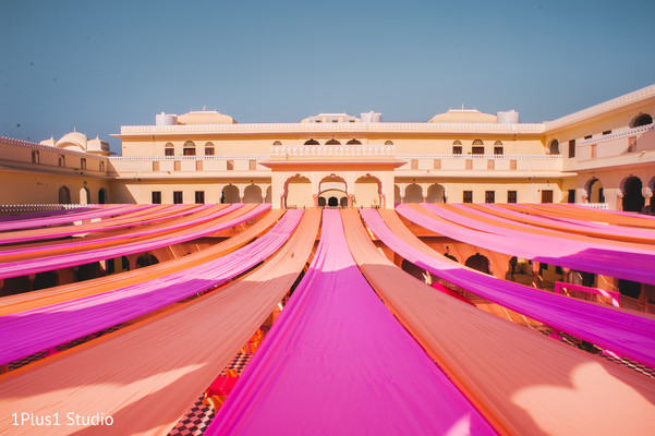 Colorful Indian wedding outdoor design