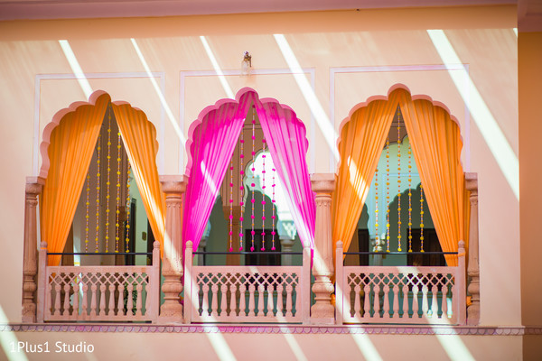 Details of the colorful venue design