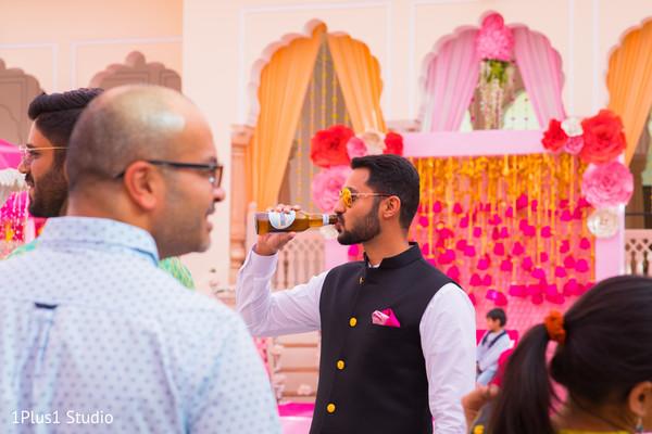 Indian guest enjoying the pre wedding celebrations