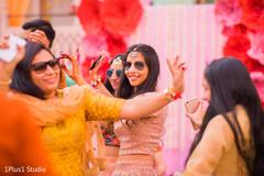 Ravishing Indian guests dancing at the pre wedding celebrations
