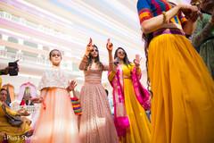Beautiful Indian guests having a good time dancing