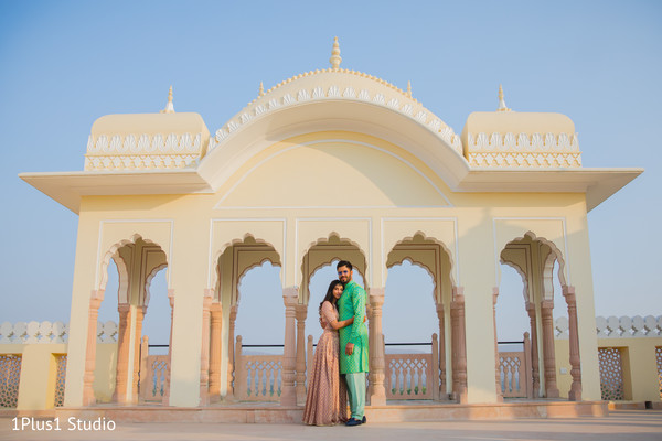 Different shot of the Indian couple outdoors