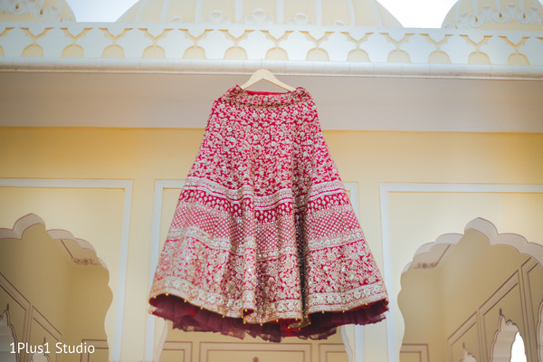 Details of the lengha skirt from hanger