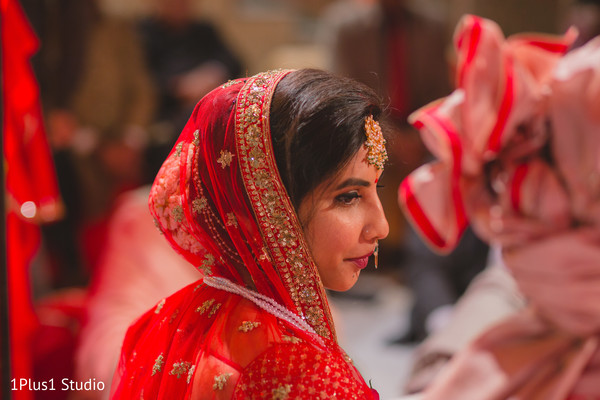 Gorgeous maharani during the ceremony