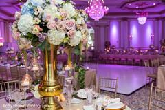 Creative Indian wedding reception table decor.