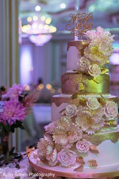 Magnificent Indian wedding golden decoration.