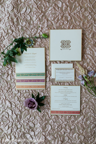 Lovely Indian sangeet and mehndi invitations.