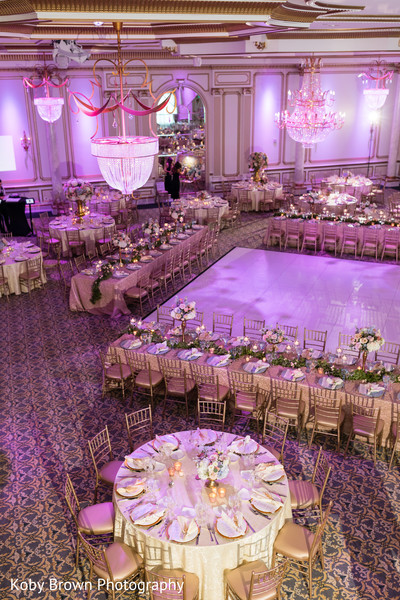 indian wedding reception,table setup,lights decor,stage decor