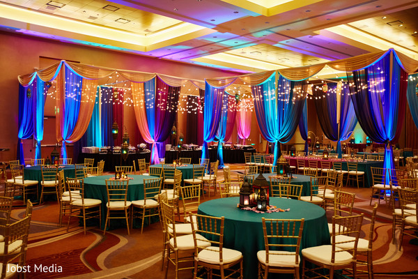 sangeet decor,draping,table decor,lights